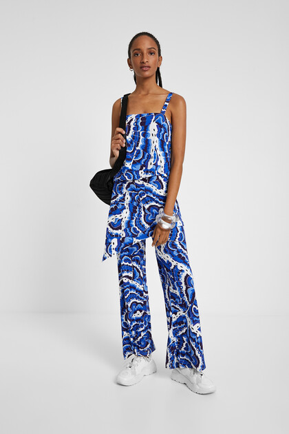 Layered jumpsuit in water effect