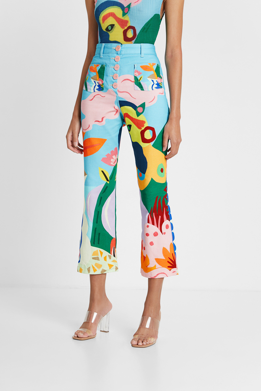 Pantaloni a pinocchietto print | Desigual