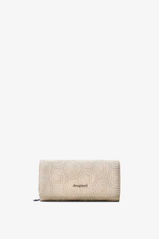 Beige logomania coin purse