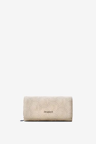 Coin wallet in logomania patch | Desigual