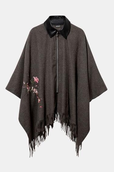 Poncho cloth fringe | Desigual