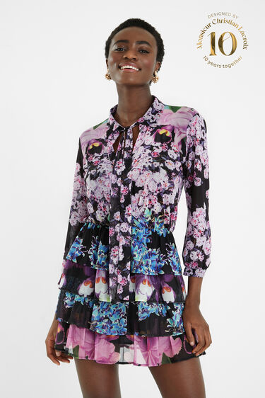 Short dress flounces | Desigual
