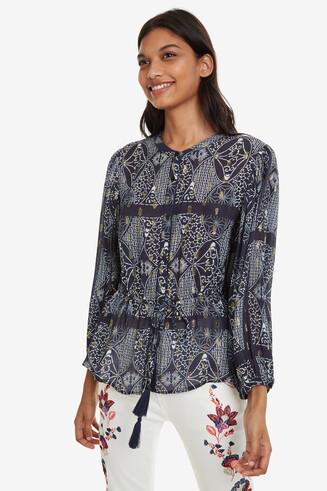 Ethnic Blue Shirt Bharti