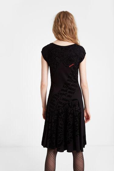 Flared short sleeve dress | Desigual