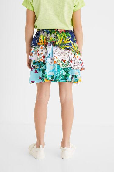 Short skirt flounces elastic waist | Desigual