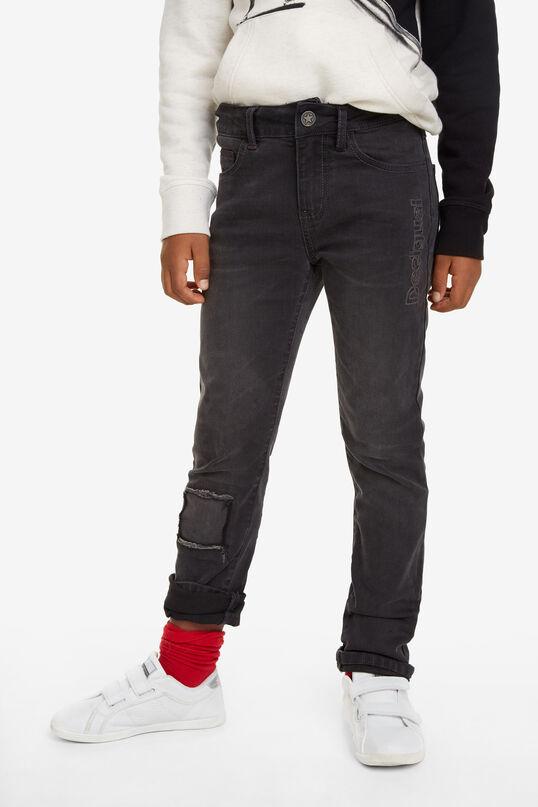 Long straight denim trousers | Desigual
