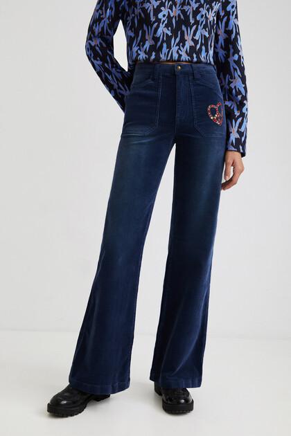 Pantalon wide leg slim