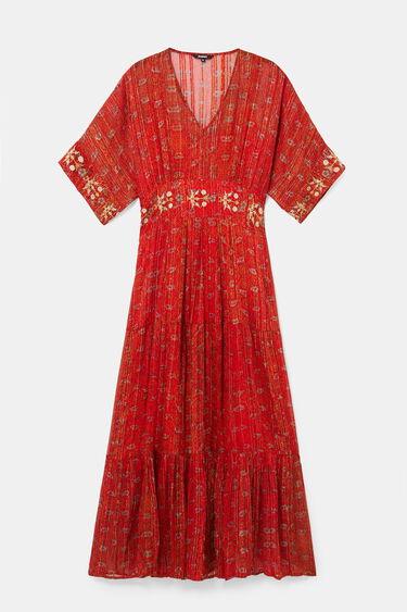 Long ethnic dress Lurex | Desigual