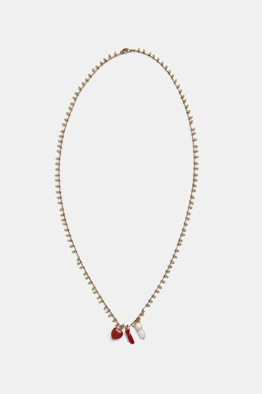 Collana lunga dorata charm | Desigual