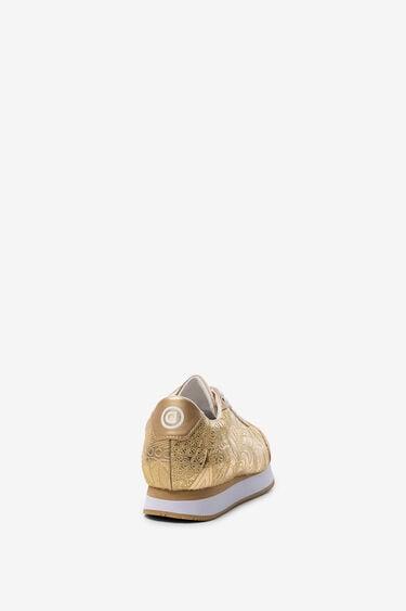 Sneakers met bloemenborduursel | Desigual
