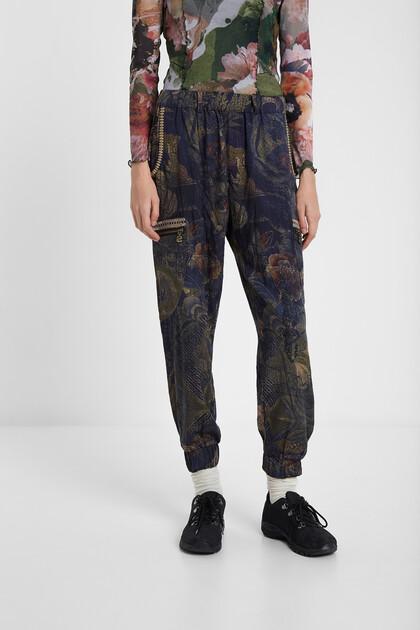 Pantalon cargo camoflower