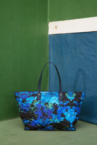 Handbag with floral camouflage