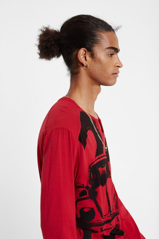 T-shirt regular col Mao | Desigual