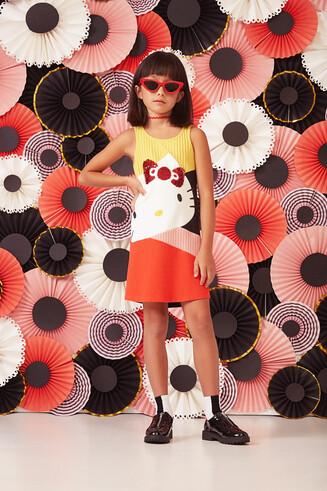 Vestido evasé Hello Kitty