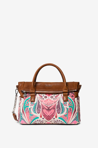 Arty multicolour print bag