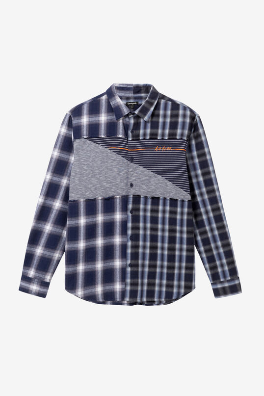 Mandarin collar checked shirt | Desigual