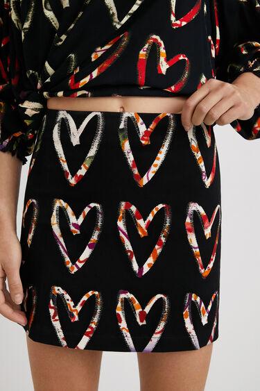 Mini-skirt cotton hearts print | Desigual