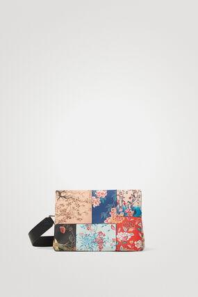 Sac à bandoulière patchwork fleurs