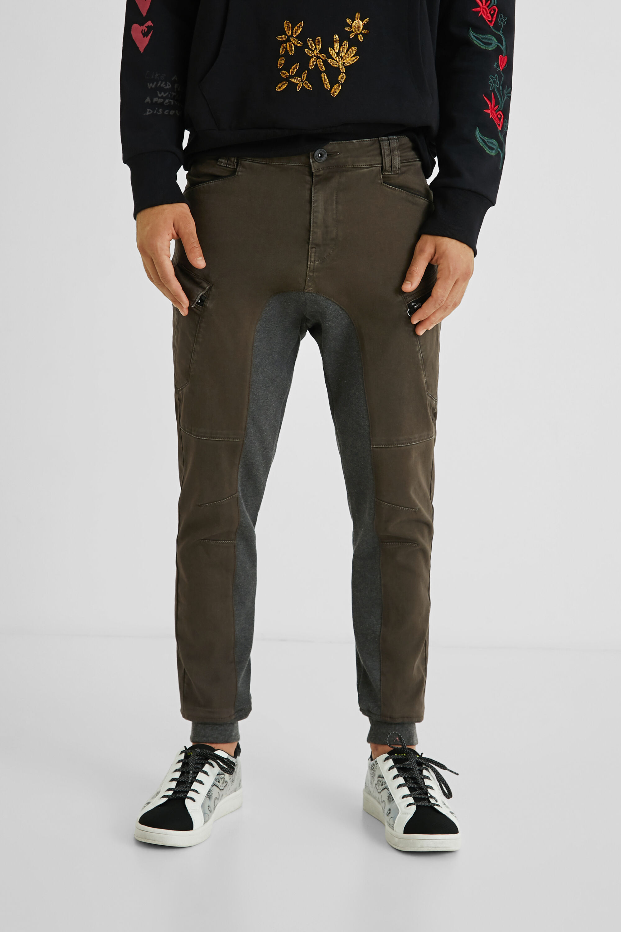 Hybrid cargo jogging trousers - BROWN - 30