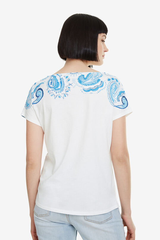 Blue Paisley T-shirt Paisley Mix | Desigual