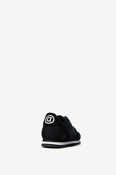 Sneakers van nylon en suède met logomania | Desigual