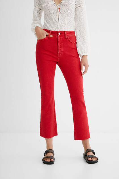 Flared ankle grazer trousers