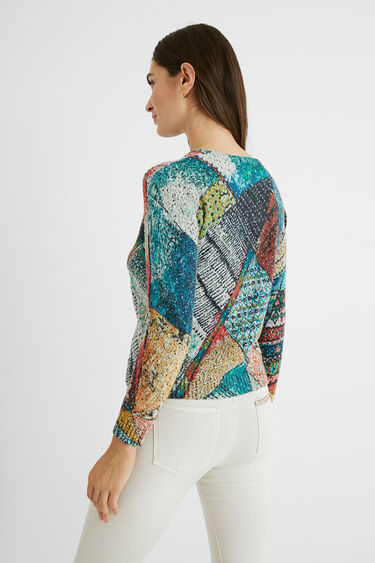 Gebreide trui in arty-stijl | Desigual
