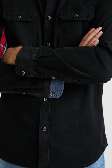 Camisa denim patch estampado | Desigual