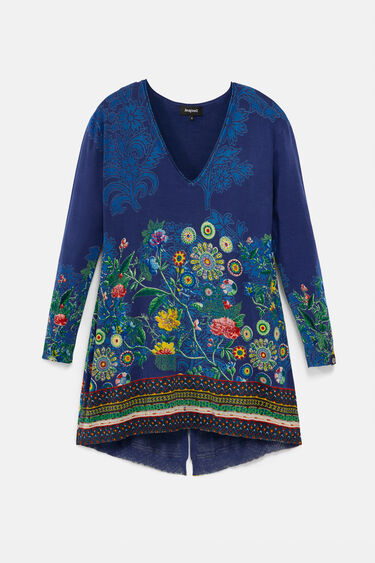 Long sweater floral | Desigual