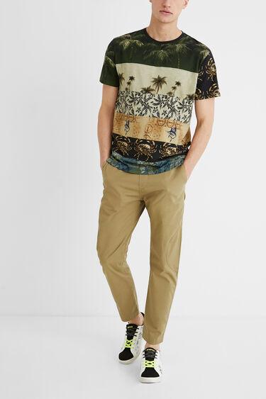 Basic-Shirt Baumwolle Mustermix | Desigual