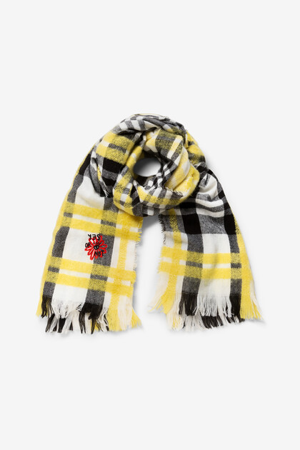 Tartan scarf embroideries