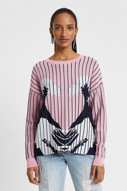 Hawaiian print jumper