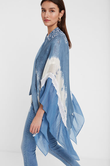 Szal typu kimono z mandalą | Desigual
