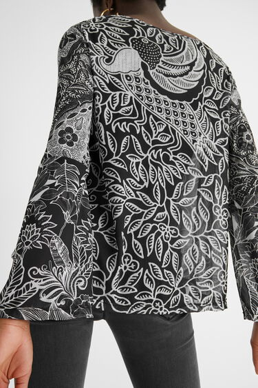 Zwiewna bluzka w mandale | Desigual