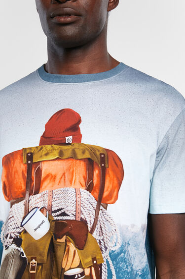 T-shirt paysage 100% coton | Desigual