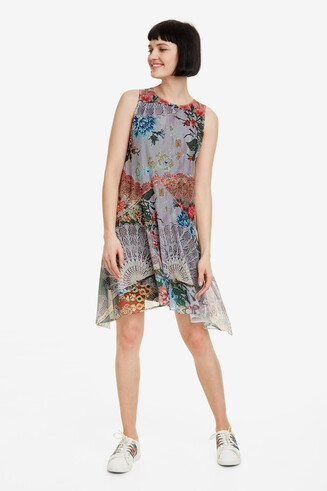 Floral hanky-hem mini dress Lucille
