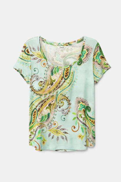 T-shirt met korte mouwen en paisley