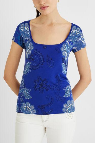 T-shirt manches courtes Paisley | Desigual