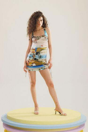 Fitted mini-dress South Beach | Desigual