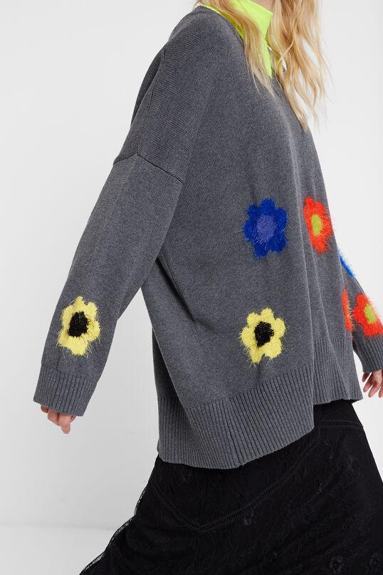 Oversize jumper flowers | Desigual