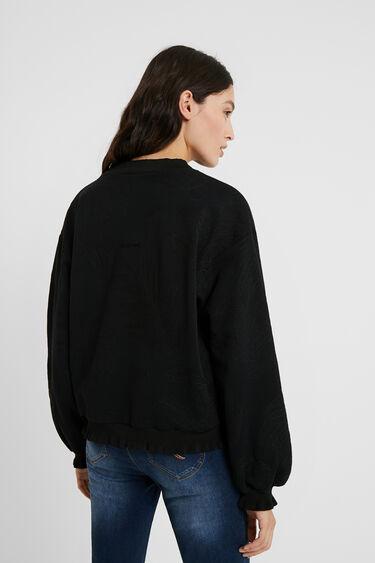 Plush sweatshirt embroideries | Desigual