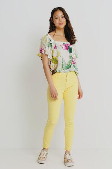 Square neckline blouse | Desigual