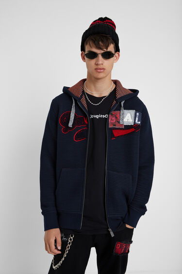 Hooded sweatshirt jacket   Desigual