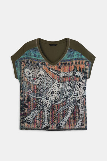 Loose oriental T-shirt | Desigual