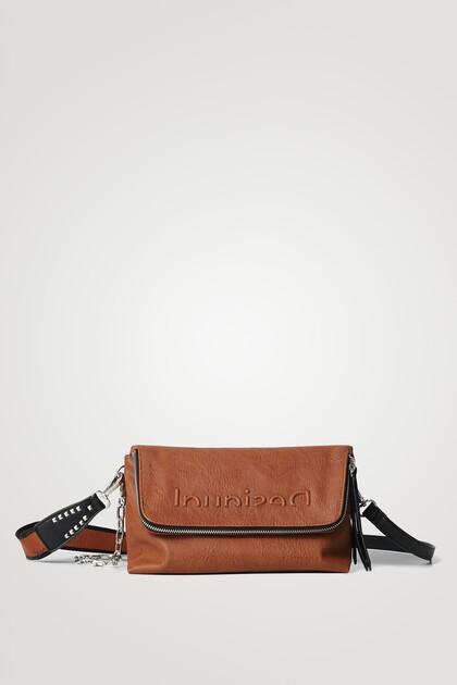 Block-colour zipped sling bag