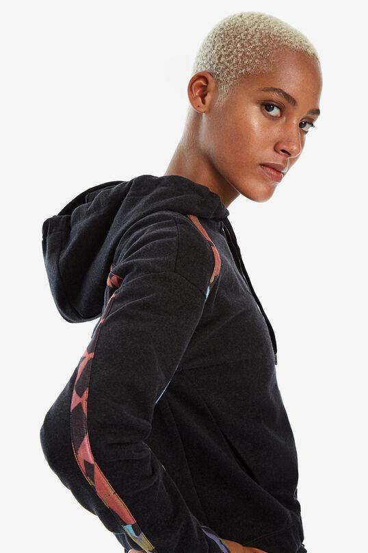 Sweatshirt with zipper and hood | Desigual