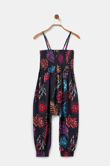 Long floral jumpsuit with shoulder straps | Desigual