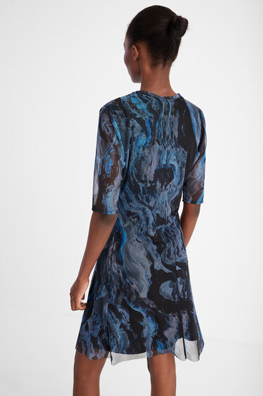 3D effect marbled dress | Desigual