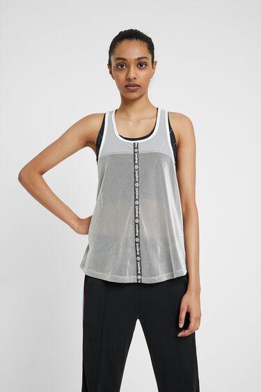 Semi-transparent sport T-shirt | Desigual