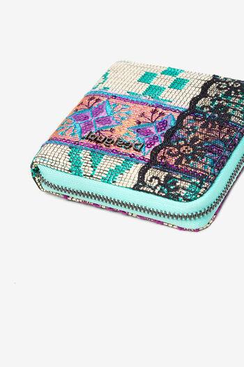Coin purse patch animal, raffia and lace | Desigual